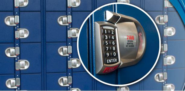Locker & Keypad close up